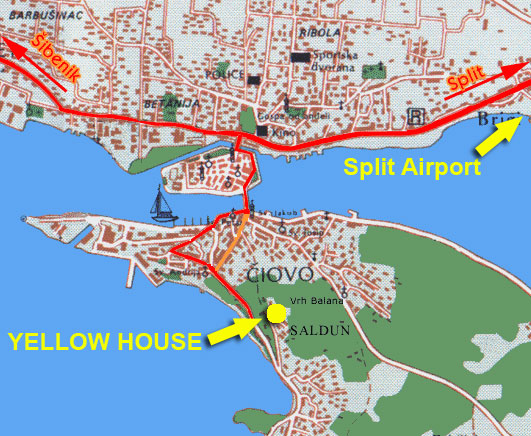 kart over trogir Location&Contact | Yellow House The perfect place for your summer  kart over trogir